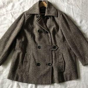 L A N E   B R Y A N T // Tweed Peacoat Size 26